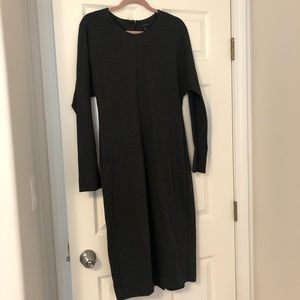 COS charcoal grey body con midi dress size 12 NWOT